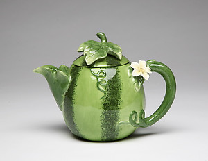 Porcelain Decorative Watermelon Teapot