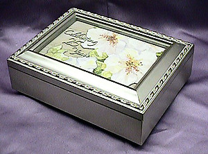Celebrating 25 Years Musical Picture Frame Champagne Box #25years-