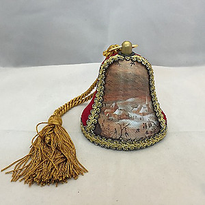 Christmas Village Musical Bell Ornament