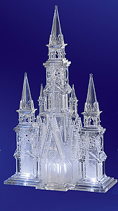 Illuminated Cathedral Acrylic Sculpture