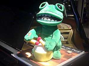 Animated Musical Drumming Frog