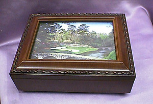 Golf Course Rosewood Music Box # golf