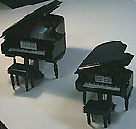 Wooden Baby Grand Piano with Bench and Gift Box Black#MM705