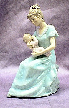 Musical Porcelain Mother with Baby Girl #80055