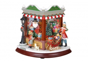 Santa Corner Shop Music Box
