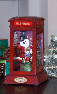 Santa Phone Booth Music Box
