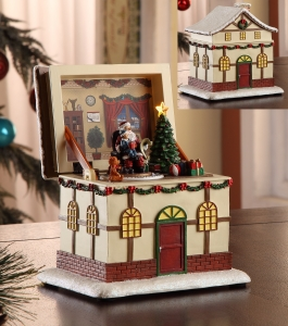 Santa Pop-Up Music Box