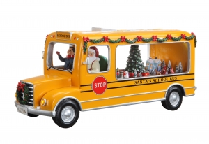 Santa School Bus Music Box