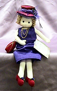Red Hat Lady Musical Doll #98411