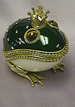 Frog Prince Goose Egg Jewelry Box