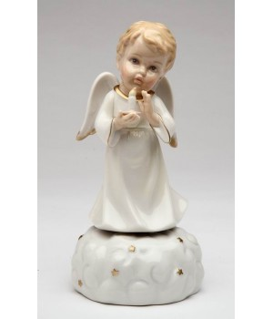 Angel of Light Porcelain Music Box Figurine