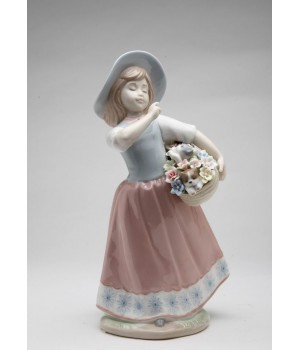 Girl with Friends Porcelain Figurine