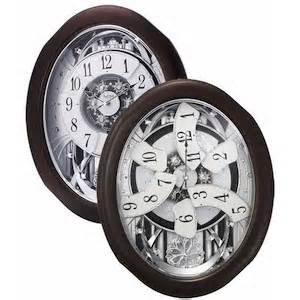 Anthology Espresso Rhythm Musical Wall Clock