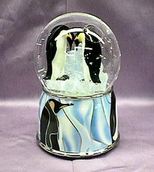 Penguin Musical Waterglobe with Blower #1301059