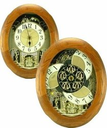 Joyful Nostalgia Oak Music and Motion Rhythm Clock  #4MH852WD06