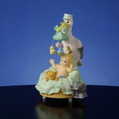 Stork with Baby Musical Figurine  #50124