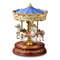 Heritage 3-Horse Rotating Carousel #52166