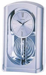 Silver Mirrored Motion Rhythm Clock  #745WT19