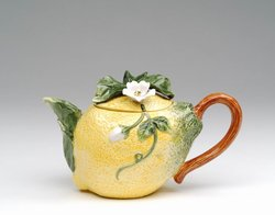 Porcelain Decorative Lemon Teapot #80146TP