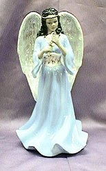 Beautiful African American Musical Porcelain Angel #96572