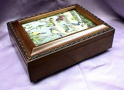 The Gathering of Birds Rosewood Music Box