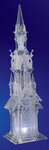Five Angel Acrylic Illuminated Cathedral  #IC80099