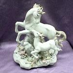 Mother and Child Horse Musical Porcelain Figurine #80018