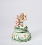 Fairy with Daffodil Porcelain Music Box