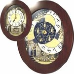 Grand Nostalgia Entertainer Music and Motion Rhythm Clock #838WD06