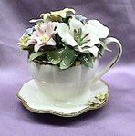 Flower Teacup Music Box #80002
