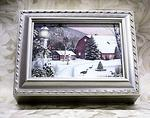 Christmas Time Musical Picture Frame Champagne Box #snow2