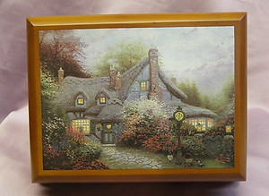 Thomas Kinkade Sweetheart Cottage Music Box #25001