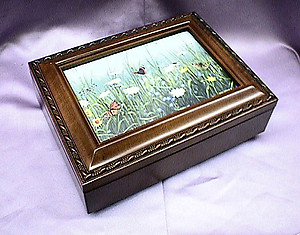 Field of Flowers Rosewood Music Box # FB2044