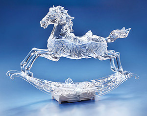 Rocking Horse Acrylic Musical Figurine