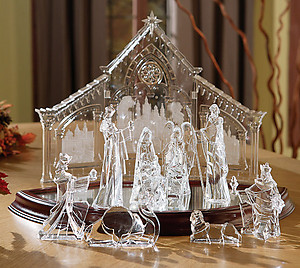 Nativity Acrylic Figurine Set  #IC80362T
