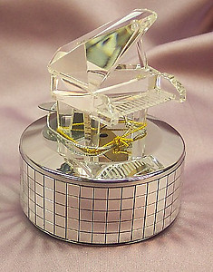 Crystal Mirrored Musical Piano #114-cm