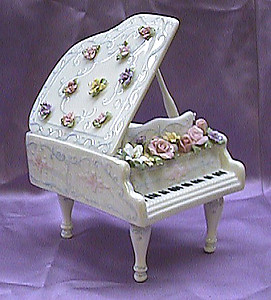 Grand Piano Porcelain Music Box #49016