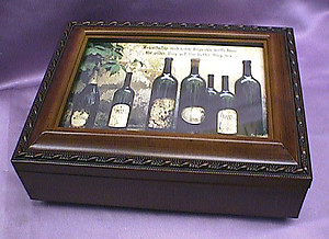 Wine Bottles Rosewood Music Box # wine