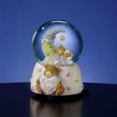 Teddy Bear and Moon Musical Water Globe