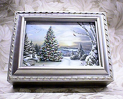 Christmas Tree Musical Picture Frame Champagne Box #Tree