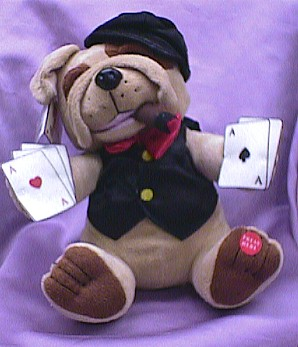 Animated Musical Poker Dog #gambler