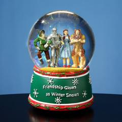 Wizard of Oz Holiday Friendship Musical Water Globe