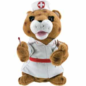 Nurse Cheetah Animated Musical Gift #cheetah