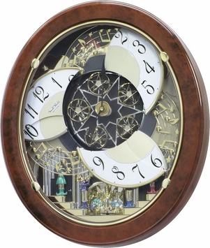 Woodgrain Stars Musical Rhythm Clock