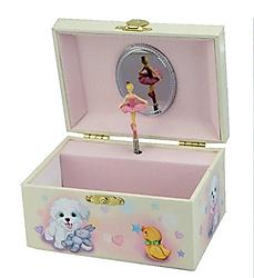 Ballerina Jewelry Box with Dog #28060