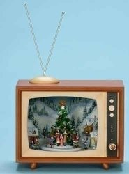 Animated Christmas Carolers and T.V Music Box #C37456