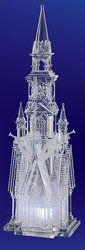 Four Angel Acrylic Illuminated Cathedral  #IC80100