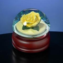 Yellow Rose Musical Waterglobe #49821