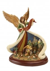 Revolving Nativity Angel Scene Music Box #96024