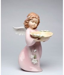 Angel with Basket Porcelain Figurine #C10383